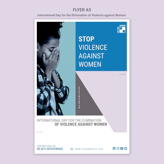 Stop geweld tegen vrouwen flyer a5