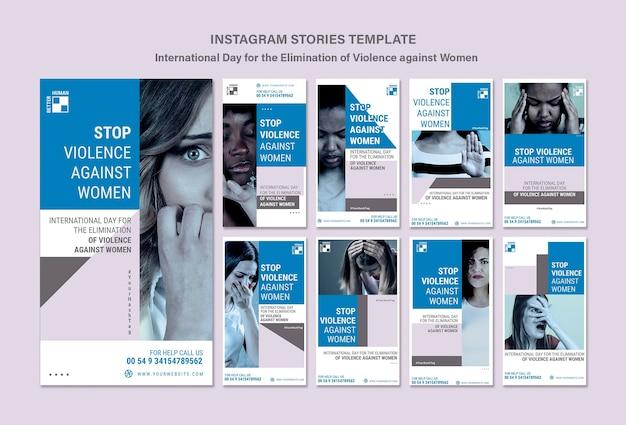 Stop het geweld tegen instagram-verhalen van vrouwen