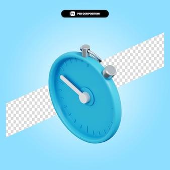 Stopwatch 3d render illustratie geïsoleerd
