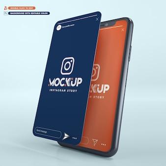 Storia di instagram per iphone mockup 3d