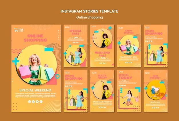 Storie di instagram con acquisti online