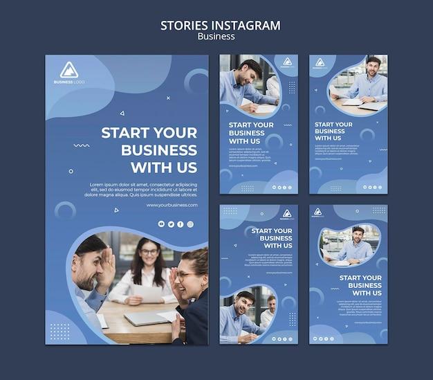 Storie di instagram concetto aziendale