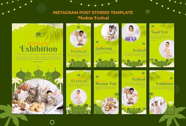 Storie di instagram del festival arabo musulmano