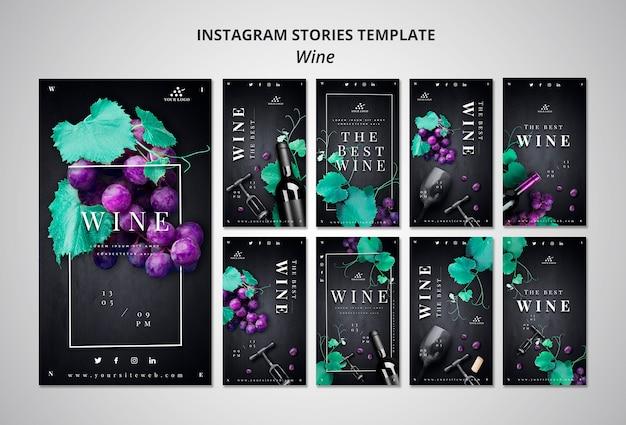 Storie di instagram dell'azienda vinicola