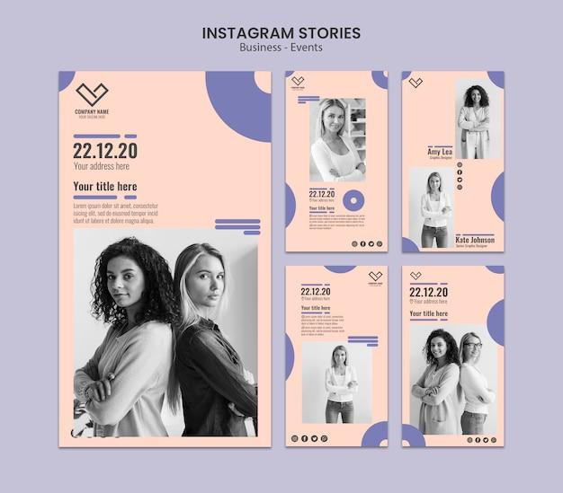 Storie di instagram design per modello