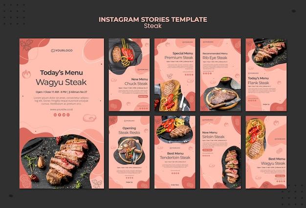 Storie di instagram di bistecca