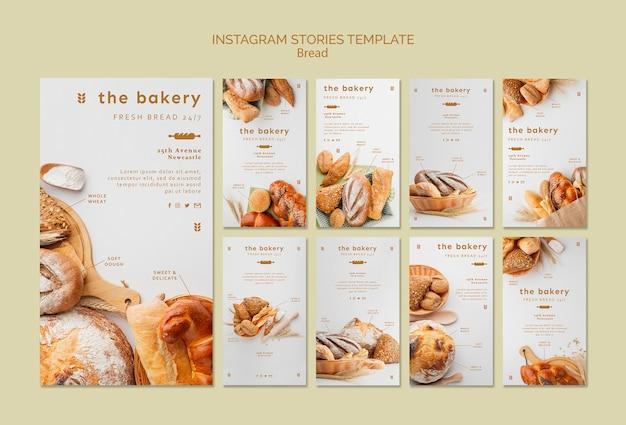 Storie di instagram di pane sempre freschi