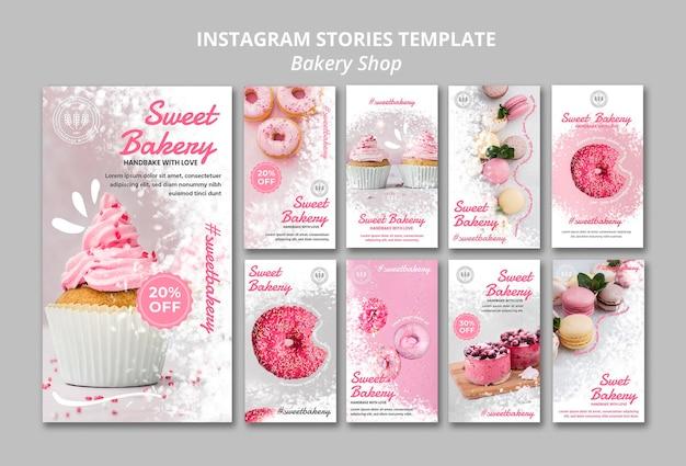 Storie di instagram di panetteria