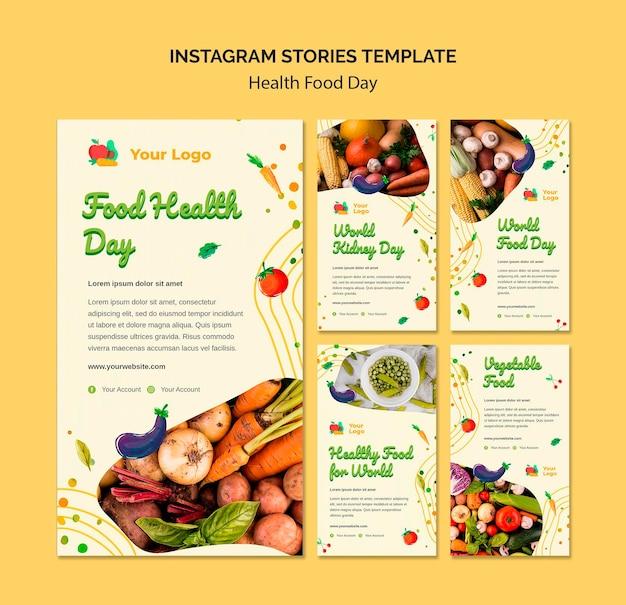 Storie di instagram di salute alimentare giorno