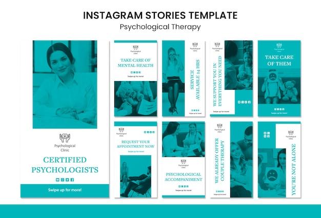Storie di instagram di terapia psicologica