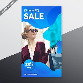 Storie di instagram di vendita estiva