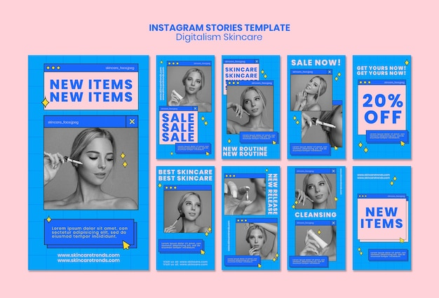 Storie di instagram digitalism skincare