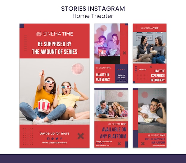 Storie di instagram home theater