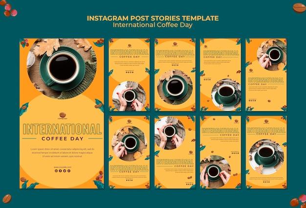 Storie di instagram per la giornata internazionale del caffè