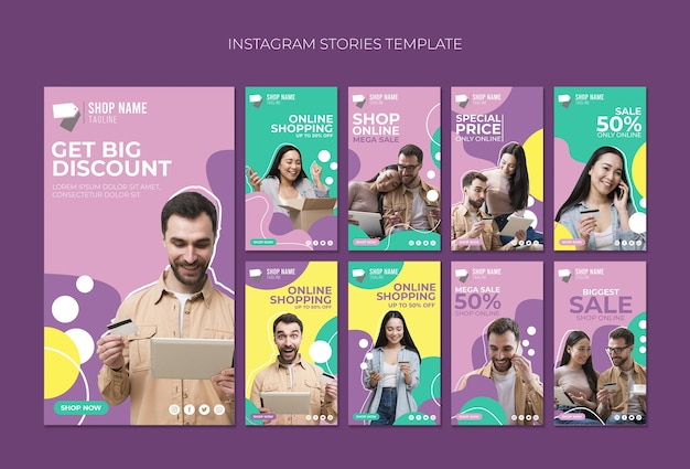 Storie di instagram per lo shopping online