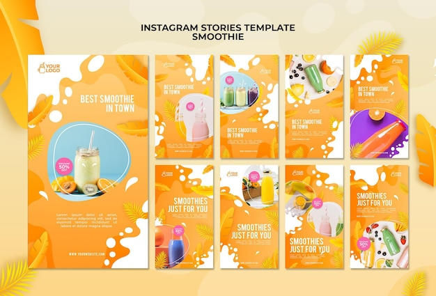 Storie di instagram smoothie