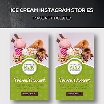 Storie di instagram sul gelato