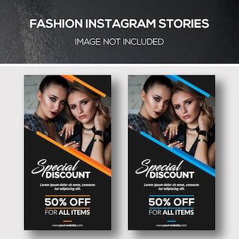 Storie di moda su instagram