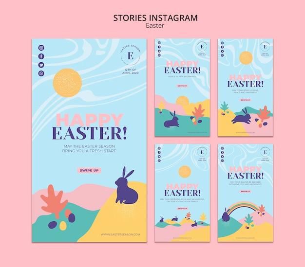 Storie felici del instagram di giorno di pasqua