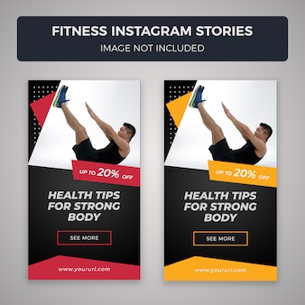 Storie instagram di fitness
