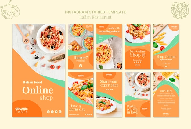 Storie instagram ristorante italiano