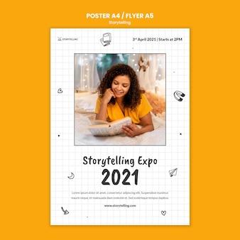Storytelling community afdruksjabloon