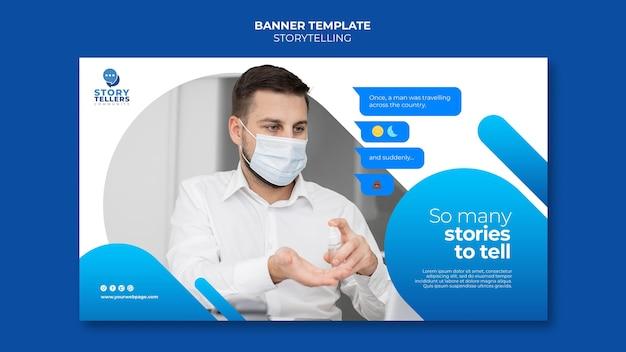 Storytelling para plantilla de banner de marketing