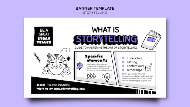 Storytelling para plantilla de banner de marketing