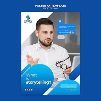 Storytelling voor marketingafdruksjabloon