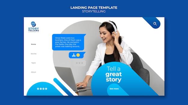 Storytelling voor marketinglandingspagina