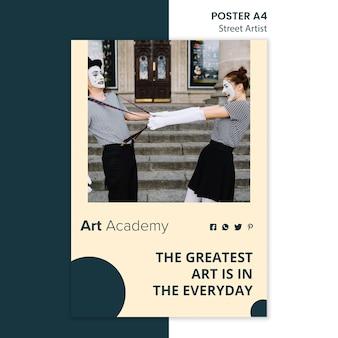 Straatartiest concept poster sjabloon