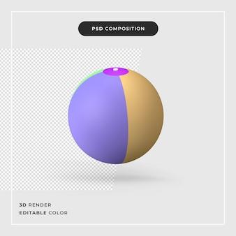 Strandbal geïsoleerd 3d-rendering