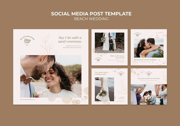 Strandhuwelijk social media berichten