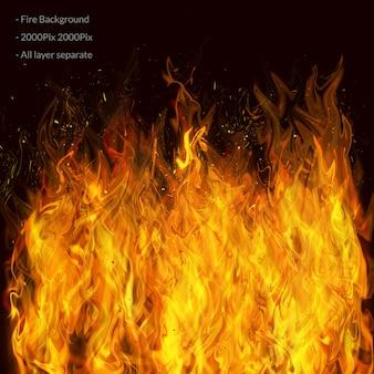 Strato effetto fuoco