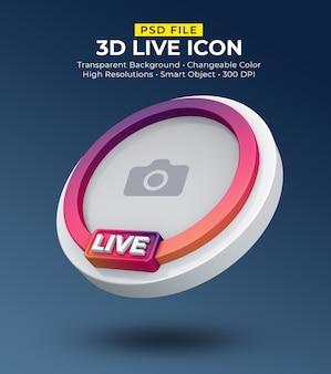Streaming live di avatar icona social media 3d