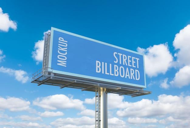 Street billboard mockup