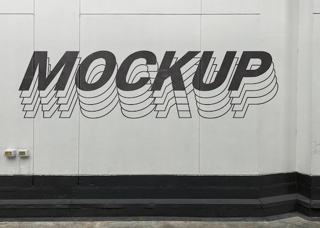Street cement muurmodel