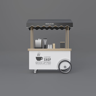 Street coffee winkelwagen Premium Psd