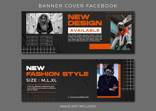 Street fashion facebook-omslag en webbannersjabloon
