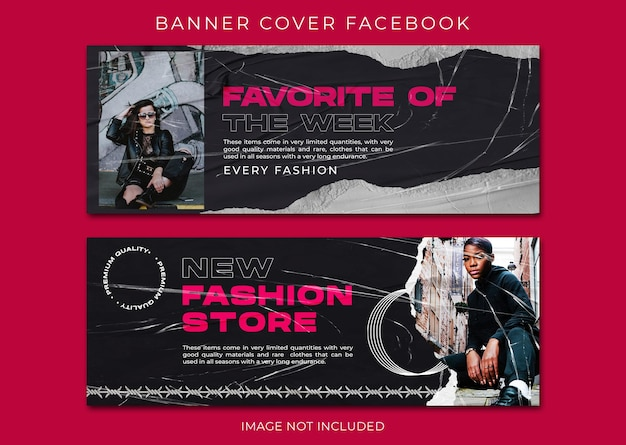 Streetwear mode facebook voorbladsjabloon