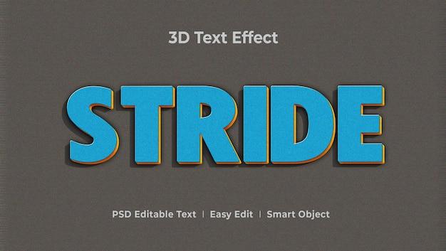 Stride 3d-tekststijleffectsjabloon