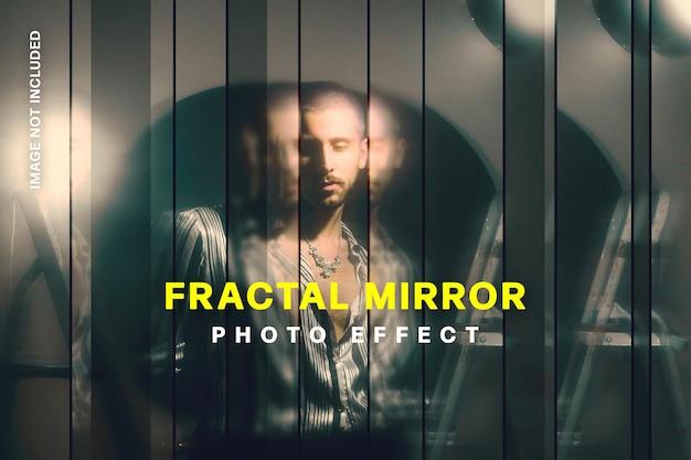 Strip fractal spiegel foto-effect