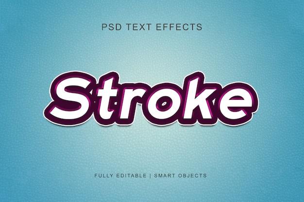 Stroke grafische stijl teksteffect