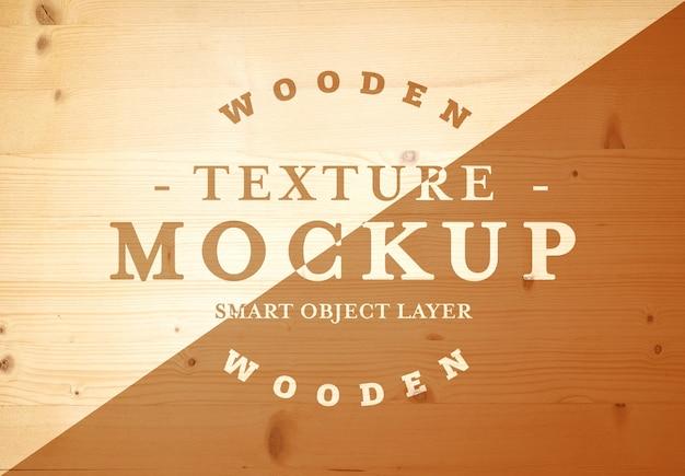 Struttura di legno per logo mockup