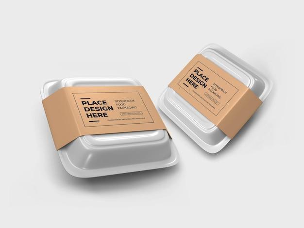 Styrofoam food box verpakking mockup