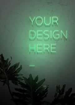 Su diseño aquí letrero de neón