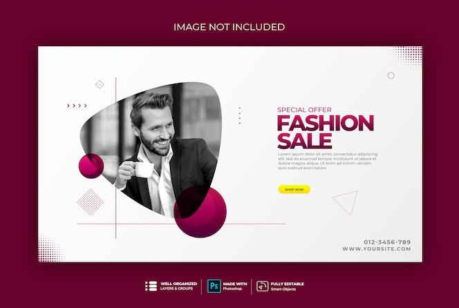 Sudadera de plantilla de banner web de estilo elegante