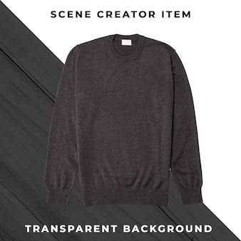 Suéter aislado con trazado de recorte.