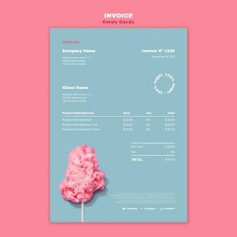 Suikerspin op stick poster afdruksjabloon
