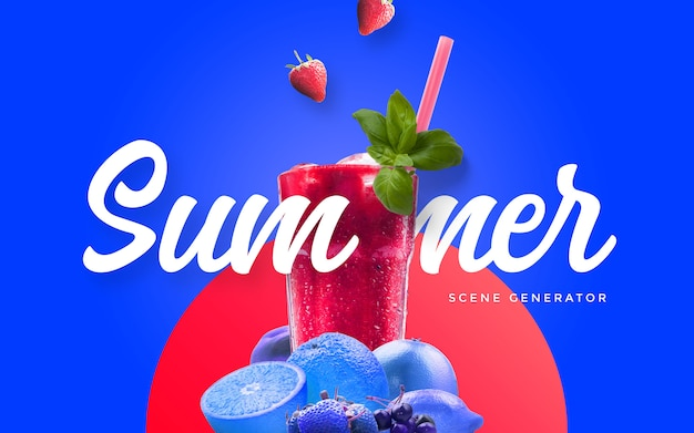 Summer juice custom scene
